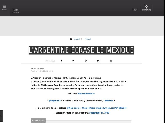 Football - L'Argentine écrase le Mexique