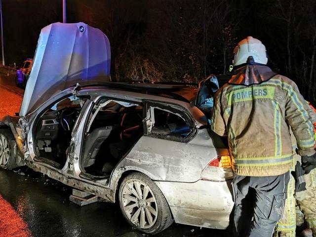 Jumet: un braqueur provoque un accident avec une voiture qu'il avait volée (photos et vidéo)