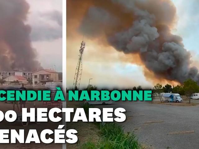 Aude: Un feu de forêt se propage dans le Massif de la Clape près de Narbonne