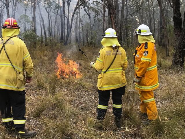 Une carte de l'Australie montrant tous les incendies depuis un mois
