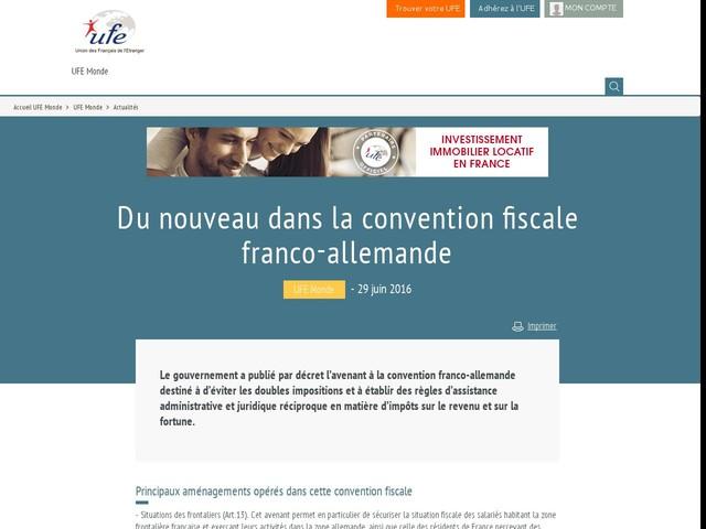 Du nouveau dans la convention fiscale franco-allemande