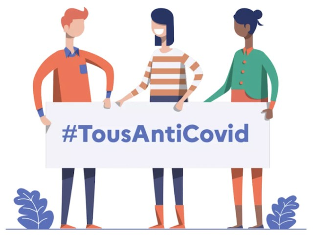 L'application TousAntiCovid est disponible sur iOS et Android