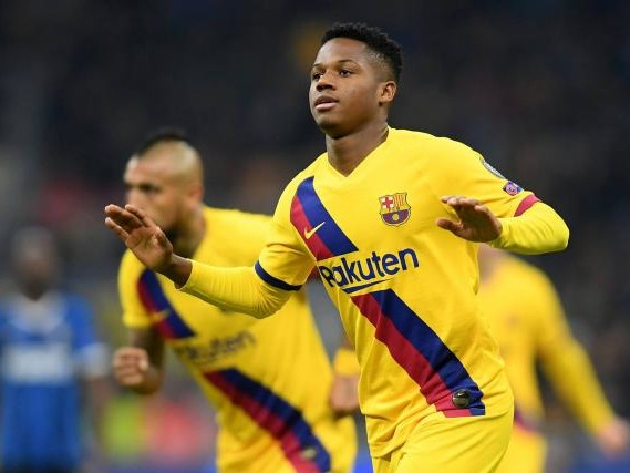 Foot - C1 - Ligue des champions : Ansu Fati (Barça) devient le plus jeune buteur de l'histoire