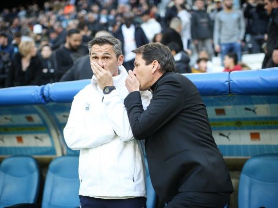 Foot - L1 - Lyon - OL : Claude Fichaux avec Rudi Garcia