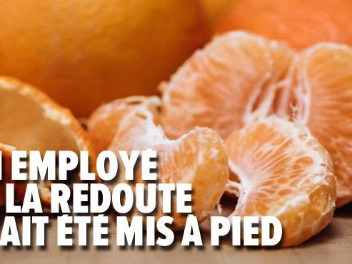 Pour la justice française, manger une clémentine sur son lieu de travail peut être une raison de mise à pied