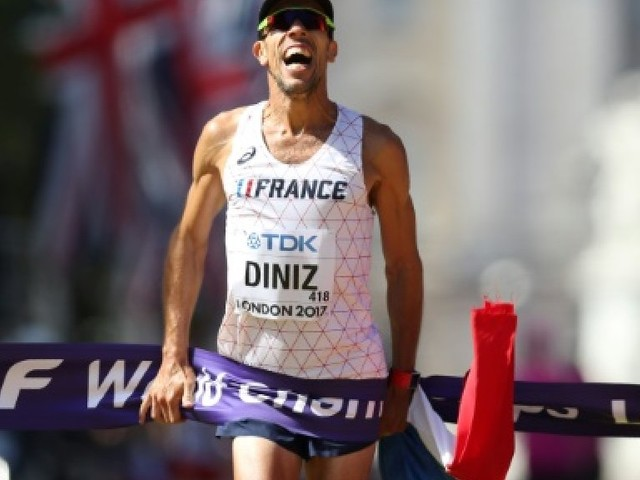 Athlétisme: Yohann Diniz sacré sur 50 km marche, troisième titre pour la France