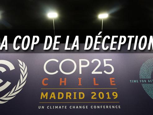 Une pluie de critiques s'abat sur la COP 25