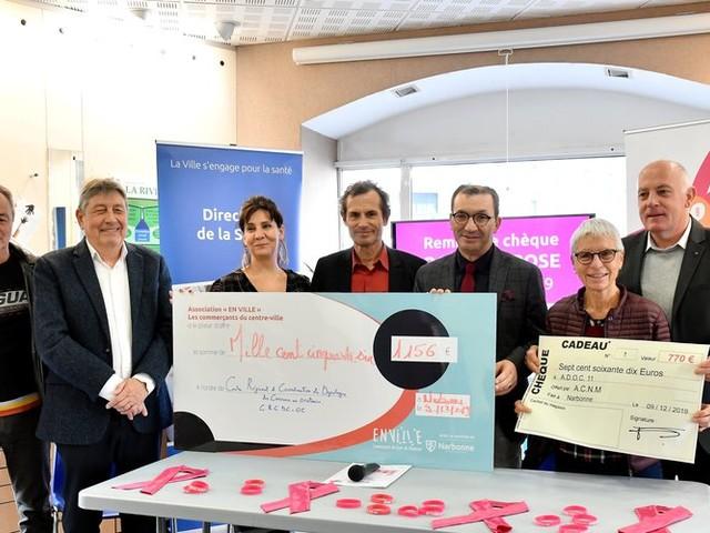 Narbonne : près de 2 000 euros récoltés pour Octobre Rose