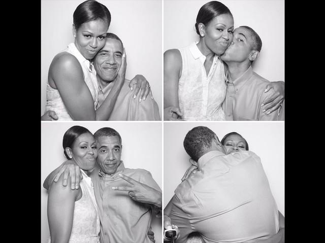 Le photobooth affectueux de Barack Obama pour souhaiter joyeux anniversaire à son épouse Michelle