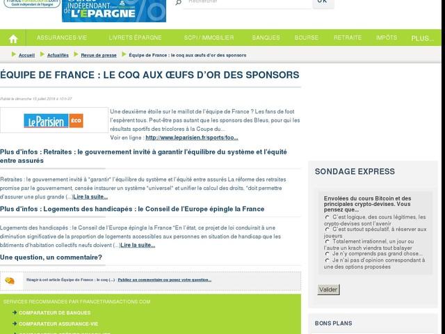 Équipe de France : le coq aux œufs d'or des sponsors