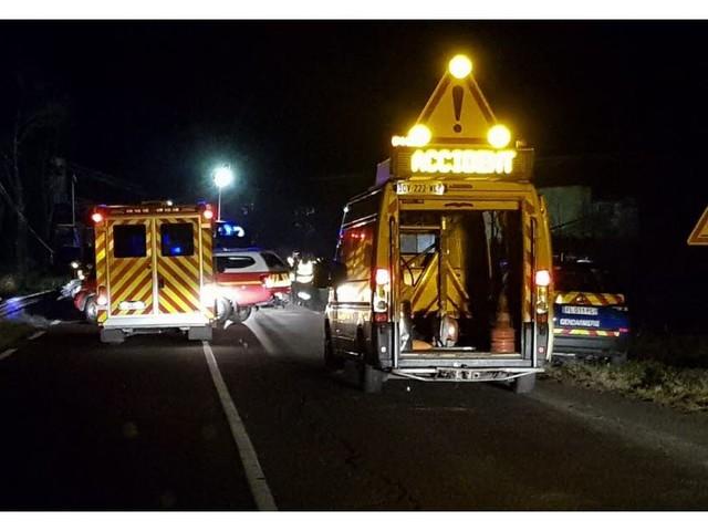 Bellegarde en Forez: cinq blessés, dont un Rhodanien, dans une collision frontale