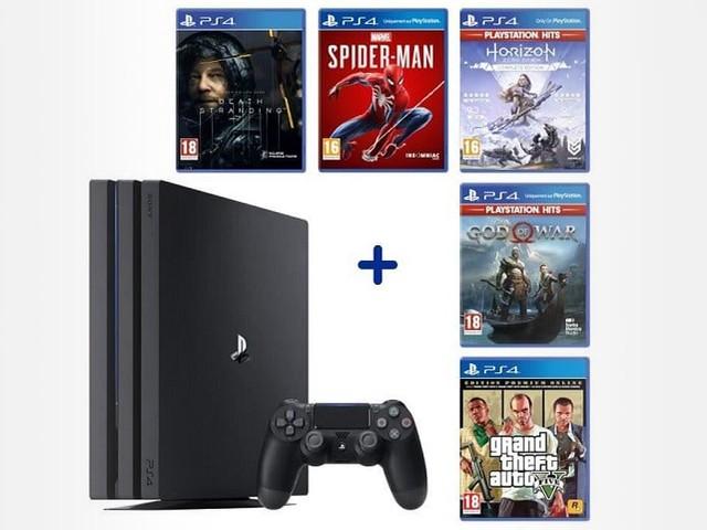 Une belle idée de cadeau pour Noël : la PS4 Pro avec 6 jeux est à 389.99 €