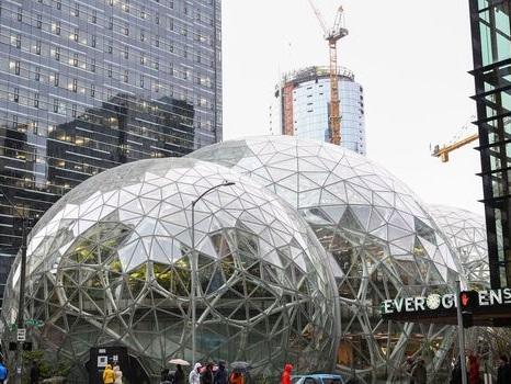 EN IMAGES. Les drôles de biosphères d'Amazon à Seattle