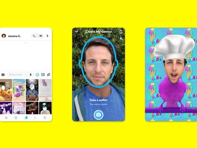 Snapchat lance Cameos, voici comment transformer votre tête en GIF rigolo