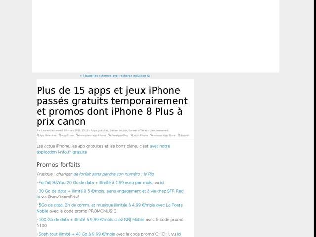 Plus de 15 apps et jeux iPhone passés gratuits temporairement et promos dont iPhone 8 Plus à prix canon