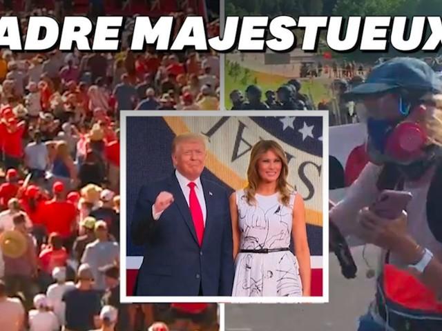 Donald Trump fête le 4 juillet au Mont Rushmore avec ses supporters