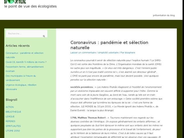 Coronavirus: pandémie et sélection naturelle