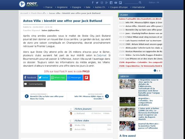 Aston Villa : bientôt une offre pour Jack Butland