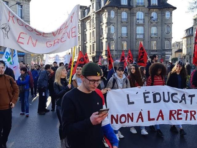 Réforme des retraites : les lycéens s'invitent à la 6e journée de grève interprofessionnelle à Reims