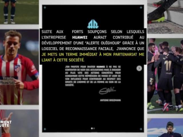 """VIDEO. Quand Antoine Griezmann rompt avec Huawei : les dessous d'un """"geste extrêmement rare"""", et la pire des publicités pour la marque"""