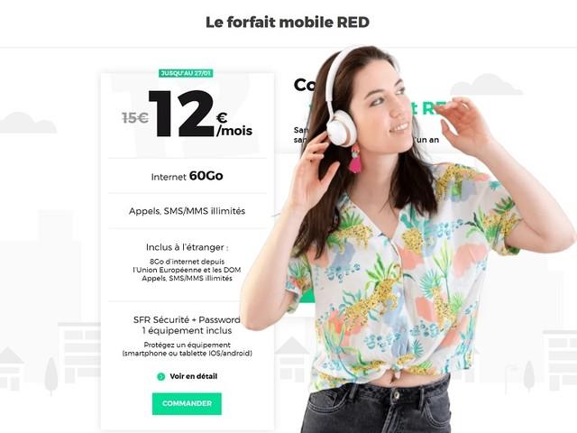 RED by SFR - les promos forfaits mobiles et box Internet à surveiller ce week-end