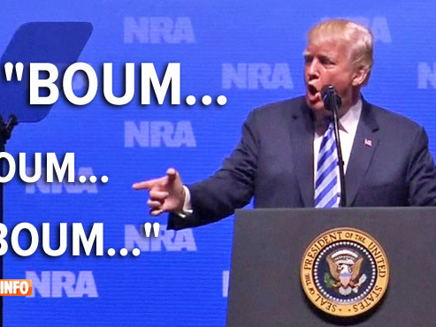Trump a-t-il été (encore) trop loin? Il tourne en sketch l'attentat du Bataclan pour défendre le port d'arme (vidéo)