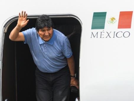 Morales, le premier président indigène de la Bolivie, réfugié au Mexique