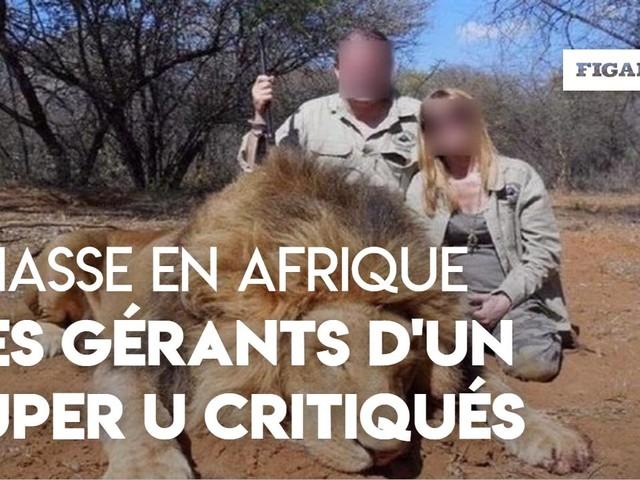 Les gérants d'un Super U critiqués sur les réseaux sociaux après une chasse en Afrique.