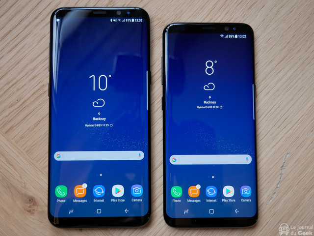 Prise en main des Samsung Galaxy S8 et Galaxy S8+
