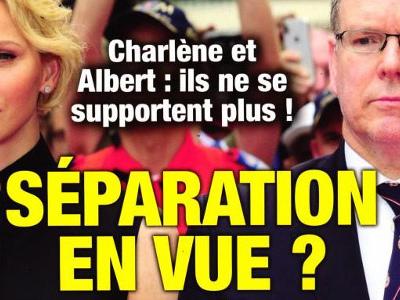 Charlène de Monaco, séparation en vue avec Albert, «ils ne se supportent plus» (photo)
