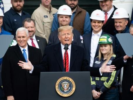 La croissance des Etats-Unis est allée moins vite en 2019 que ce qu'a promis Trump