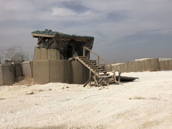 Une des bases abandonnées par les Américains dans le nord-est de la Syrie