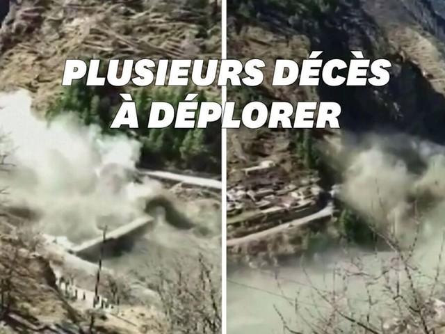 Un glacier se détache de l'Himalaya, 150 personnes portées disparues