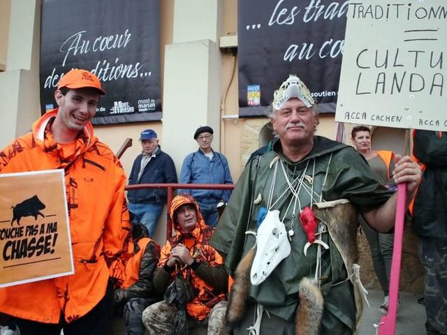 Des milliers de chasseurs manifestent à Mont-de-Marsan, Amiens et Redon pour défendre la chasse traditionnelle