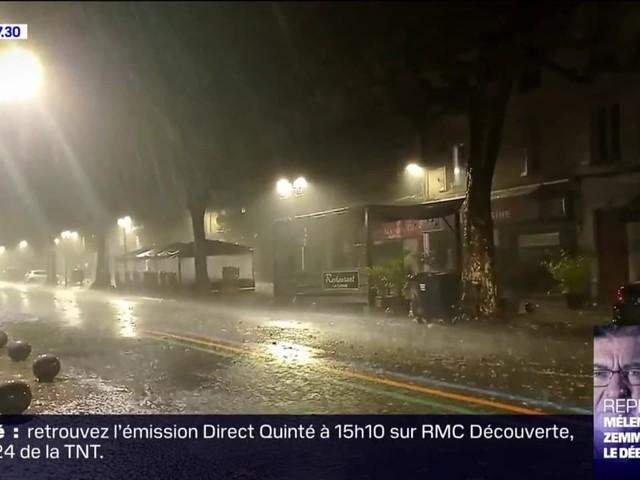 Une très forte pluie tombe en continu sur le sud-est de la France, quatre départements en vigilance orange