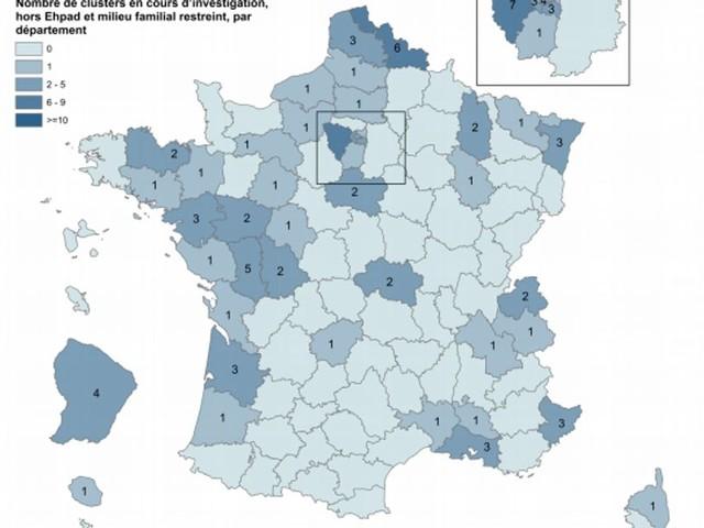Coronavirus: où se trouve les 109 clusters repérés en France?