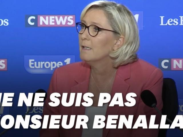 """Marine Le Pen """"n'est pas Benalla"""", qui doit aussi se soumettre à une expertise psychiatrique selon le JDD"""