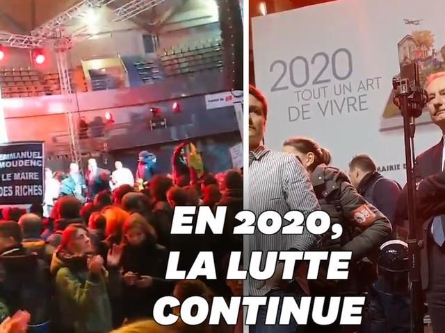 Les vœux du maire de Toulouse perturbés par des manifestants