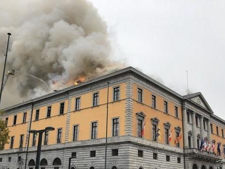 Annecy : incendie en cours à l'hôtel de ville