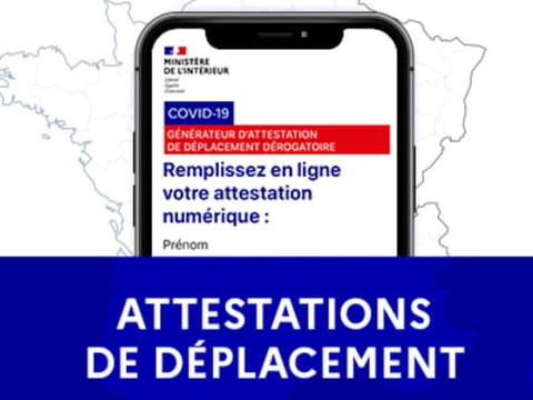 Attestation de déplacement Covid: téléchargez le document de sortie