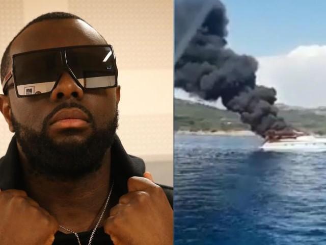 Maître Gims sauvé d'un bateau en flammes au large de la Corse