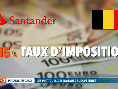 20 banques européennes font partir 1/4 de leurs bénéfices vers des paradis fiscaux: et la Belgique?