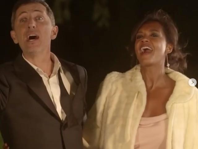 """VIDEO. """"J'ai ri à toutes ses blagues"""" : Karine Le Marchand sous le charme de Gad Elmaleh pendant le tournage d'Une ambition intime"""
