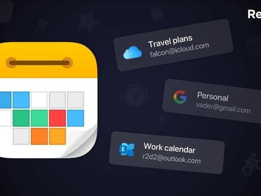 Calendars 5 intègre les calendriers Outlook (Exchange) et permet de connecter plusieurs comptes