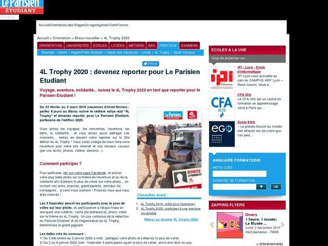 4L Trophy : partez 8 jours au Maroc et devenez reporter pour Le Parisien Etudiant