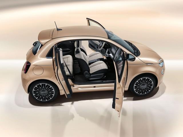 Fiat 500 électrique, les photos de l'étonnante version 3+1