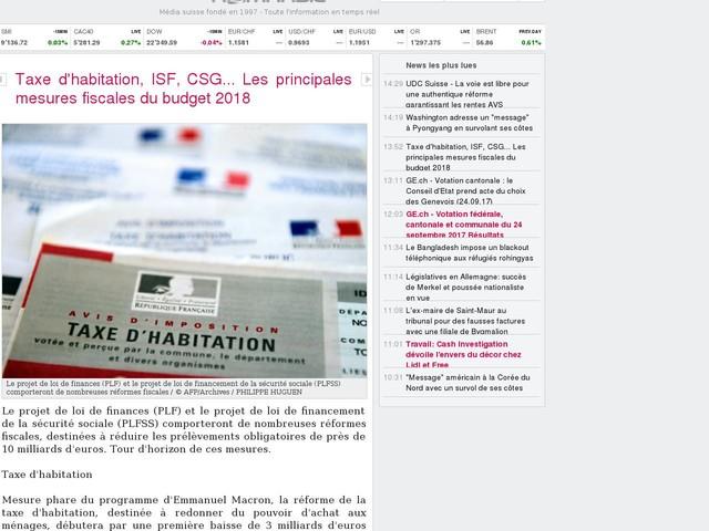 Taxe d'habitation, ISF, CSG... Les principales mesures fiscales du budget 2018