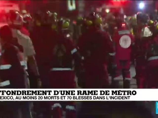 À Mexico, au moins 20 morts et 70 blessés après l'effondrement d'une rame de métro
