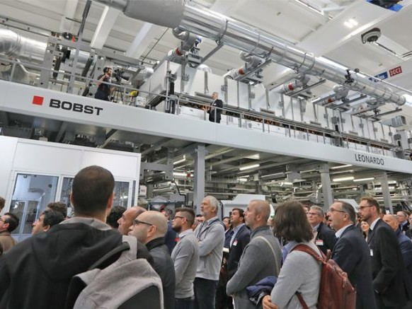 Inauguration du centre de démonstration enduction Bobst Italia