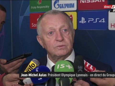 Foot - C1 - OL - Jean-Michel Aulas (OL), après les incidents de fin de match contre Leipzig: «Ceux qui veulent siffler les joueurs ne viendront plus dans le stade»